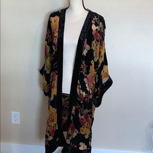 Band of Gypsies   floral velvet kimono
